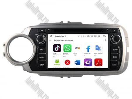 NAVIGATIE Toyota Yaris (2012-2016), ANDROID 10, Octacore|PX5|/ 4GB RAM + 64GB ROM cu DVD, 7 Inch - AD-BGWYARIS4P57