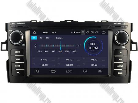NAVIGATIE Toyota Auris (2007-2011), ANDROID 10, Octacore|PX5|/ 4GB RAM + 64GB ROM cu DVD, 7 Inch - AD-BGWAURIS1P53