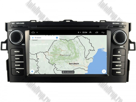 NAVIGATIE Toyota Auris (2007-2011), ANDROID 10, Octacore|PX5|/ 4GB RAM + 64GB ROM cu DVD, 7 Inch - AD-BGWAURIS1P512