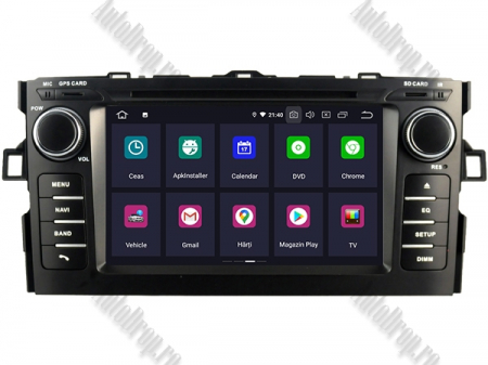 NAVIGATIE Toyota Auris (2007-2011), ANDROID 10, Octacore|PX5|/ 4GB RAM + 64GB ROM cu DVD, 7 Inch - AD-BGWAURIS1P52