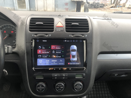 Navigatie Volkswagen, Skoda, Seat, Android 10, OCTACORE|PX5| / 4GB RAM + 64GB ROM, 9 Inch - AD-BGWVW9P526