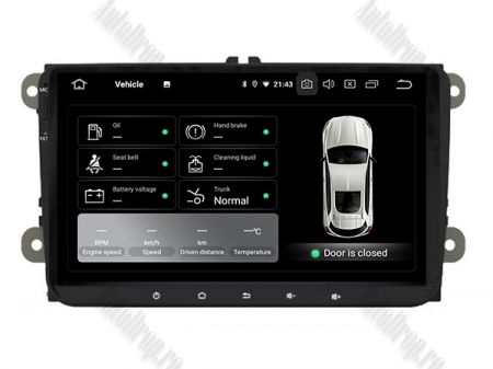 Navigatie Volkswagen, Skoda, Seat, Android 10, OCTACORE|PX5| / 4GB RAM + 64GB ROM, 9 Inch - AD-BGWVW9P59