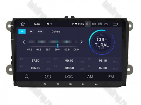 Navigatie Volkswagen, Skoda, Seat, Android 10, OCTACORE|PX5| / 4GB RAM + 64GB ROM, 9 Inch - AD-BGWVW9P52