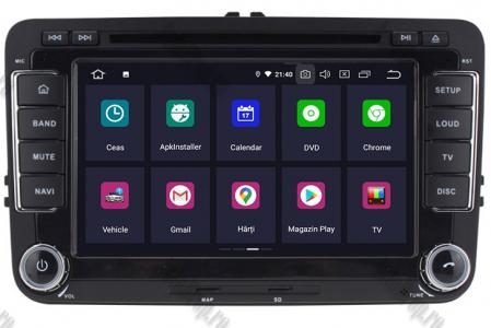 [Pachet] Navigatie Skoda Octavia 2 Facelift, Android 10, OCTACORE|PX5| / 4GB RAM + 64 ROM cu DVD, 7 Inch - AD-BGWSKDR7P51