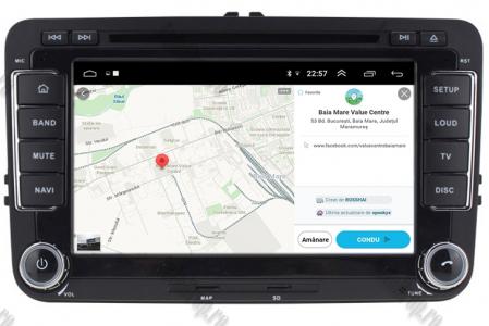 [Pachet] Navigatie Skoda Octavia 2 Facelift, Android 10, OCTACORE|PX5| / 4GB RAM + 64 ROM cu DVD, 7 Inch - AD-BGWSKDR7P513