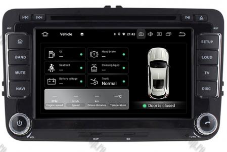 [Pachet] Navigatie Skoda Octavia 2 Facelift, Android 10, OCTACORE|PX5| / 4GB RAM + 64 ROM cu DVD, 7 Inch - AD-BGWSKDR7P511
