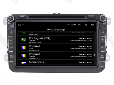[Pachet] Navigatie Skoda Octavia 2 Facelift, Android 10, OCTACORE|PX5| / 4GB RAM + 64 ROM cu DVD, 8 Inch -  AD-BGWSKDR8P57