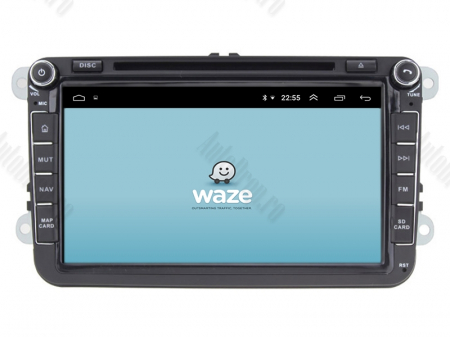 Navigatie Volkswagen, Skoda, Seat, Android 10, OCTACORE|PX5| / 4GB RAM + 64 ROM cu DVD, 8 Inch -  AD-BGWVW8P513