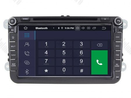 Navigatie Volkswagen, Skoda, Seat, Android 10, OCTACORE|PX5| / 4GB RAM + 64 ROM cu DVD, 8 Inch -  AD-BGWVW8P53