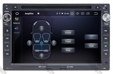 Navigatie Volkswagen, Android 10, Passat B5 / Golf IV / Sharan / T4-T5 / Jetta / Polo, QUADCORE|PX30| / 2GB RAM + 16GB ROM cu DVD, 7 Inch - AD-BGWVWB5P36