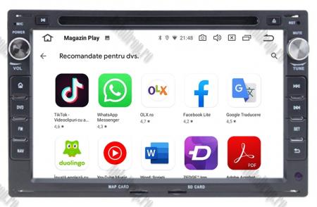 Navigatie Volkswagen, Android 10, Passat B5 / Golf IV / Sharan / T4-T5 / Jetta / Polo, Octacore|PX5| / 4GB RAM cu DVD, 7 Inch - AD-BGWVWB5P513