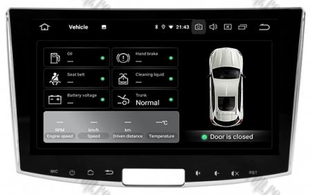 Navigatie Volkswagen PASSAT B6/B7/CC, Android 9, OCTACORE|PX5| / 4GB RAM + 64GB ROM, 10.1 inch - AD-BGWVW10P59