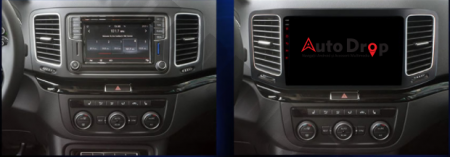 Navigatie Volkswagen Sharan (2012-2018), Android 9.1, QUADCORE|MTK| / 1GB RAM + 16GB ROM, 9 Inch - AD-BGPSR12MTK14