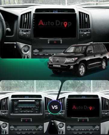 Navigatie Toyota Land Cruiser 200 (2007-2015), Android 9.1, QUADCORE|MTK| / 2GB RAM + 32GB ROM, 9 Inch - AD-BGPLC07MTK2GB19