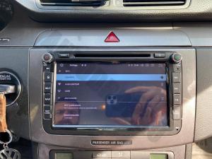 Navigatie Volkswagen, Skoda, Seat, Android 10, QUADCORE|PX30| / 2GB RAM + 16 ROM cu DVD, 8 Inch - AD-BGWVW8P317