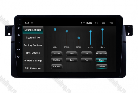 Navigatie BMW E46, Android 9.1, QUADCORE|MTK| / 1GB RAM + 16 ROM, 9 Inch -AD-BGPBMWE469L6