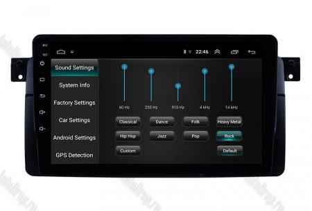 Navigatie BMW E46, Android 8.1, QUADCORE|MTK| / 2GB RAM + 32 ROM, 9 Inch - AD-BGPBMWE469H7
