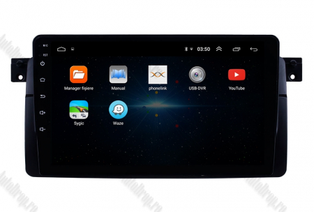 Navigatie BMW E46, Android 9.1, QUADCORE|MTK| / 1GB RAM + 16 ROM, 9 Inch -AD-BGPBMWE469L2