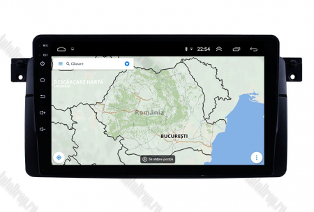 Navigatie BMW E46, Android 9.1, QUADCORE|MTK| / 1GB RAM + 16 ROM, 9 Inch -AD-BGPBMWE469L13