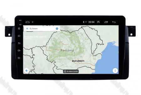Navigatie BMW E46, Android 8.1, QUADCORE|MTK| / 2GB RAM + 32 ROM, 9 Inch - AD-BGPBMWE469H14