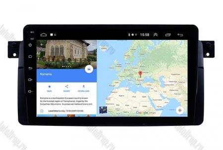 Navigatie BMW E46, Android 8.1, QUADCORE|MTK| / 2GB RAM + 32 ROM, 9 Inch - AD-BGPBMWE469H12