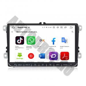 Navigatie Volkswagen, Skoda, Seat, Android 10, OCTACORE T8  / 4GB RAM + 128 ROM, 9 Inch - AD-BGMVW9T87