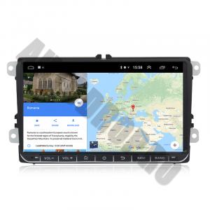 Navigatie Volkswagen, Skoda, Seat, Android 10, OCTACORE T8  / 4GB RAM + 128 ROM, 9 Inch - AD-BGMVW9T88