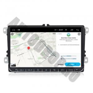 Navigatie Volkswagen, Skoda, Seat, Android 10, OCTACORE T8  / 4GB RAM + 128 ROM, 9 Inch - AD-BGMVW9T86