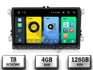 Navigatie Volkswagen, Skoda, Seat, Android 10, OCTACORE T8  / 4GB RAM + 128 ROM, 9 Inch - AD-BGMVW9T80