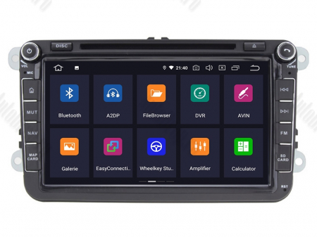 [Pachet] Navigatie Skoda Octavia 2 Facelift, Android 10, QUADCORE|PX30| / 2GB RAM + 16 ROM cu DVD, 8 Inch - AD-BGWSKDR8P31