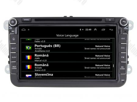Navigatie Volkswagen, Skoda, Seat, Android 10, QUADCORE|PX30| / 2GB RAM + 16 ROM cu DVD, 8 Inch - AD-BGWVW8P39