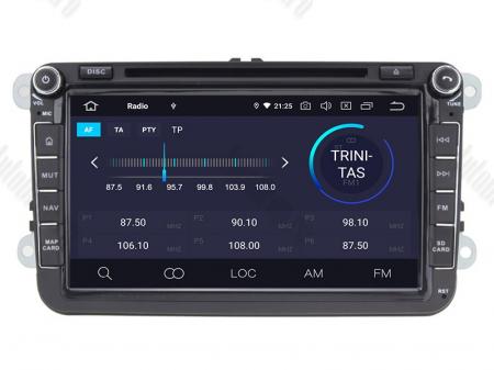Navigatie Volkswagen, Skoda, Seat, Android 10, QUADCORE|PX30| / 2GB RAM + 16 ROM cu DVD, 8 Inch - AD-BGWVW8P33