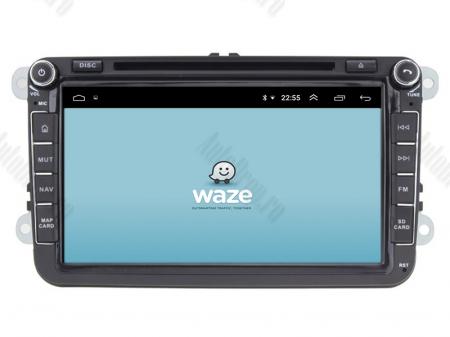 Navigatie Volkswagen, Skoda, Seat, Android 10, QUADCORE|PX30| / 2GB RAM + 16 ROM cu DVD, 8 Inch - AD-BGWVW8P313