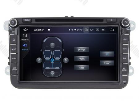 Navigatie Volkswagen, Skoda, Seat, Android 10, QUADCORE|PX30| / 2GB RAM + 16 ROM cu DVD, 8 Inch - AD-BGWVW8P37