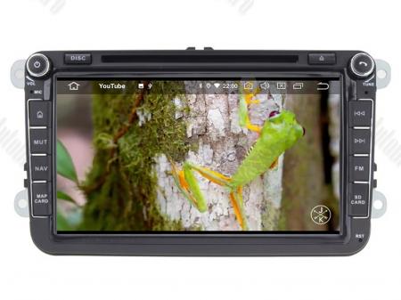 Navigatie Volkswagen, Skoda, Seat, Android 10, QUADCORE|PX30| / 2GB RAM + 16 ROM cu DVD, 8 Inch - AD-BGWVW8P312