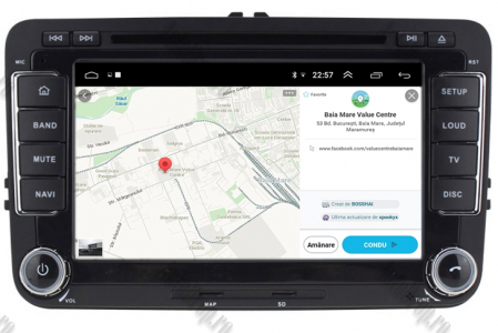 Navigatie Volkswagen, Skoda, Seat, Android 10, Quadcore|PX30| / 2GBRAM + 16GB ROM cu DVD, 7 Inch - AD-BGWVW7P313