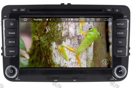 Navigatie Volkswagen, Skoda, Seat, Android 10, Quadcore|PX30| / 2GBRAM + 16GB ROM cu DVD, 7 Inch - AD-BGWVW7P315