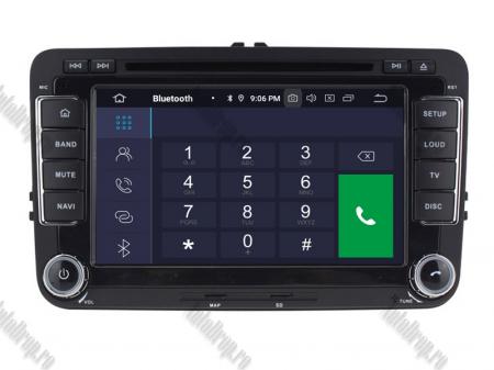 Navigatie Volkswagen, Skoda, Seat, Android 10, Quadcore|PX30| / 2GBRAM + 16GB ROM cu DVD, 7 Inch - AD-BGWVW7P33