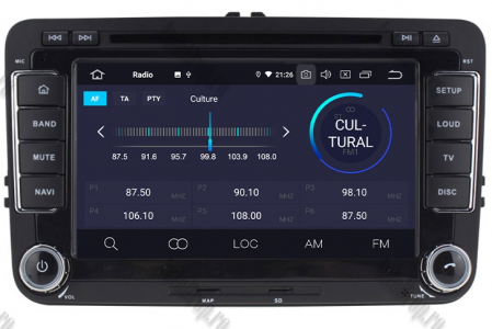 Navigatie Volkswagen, Skoda, Seat, Android 10, Quadcore|PX30| / 2GBRAM + 16GB ROM cu DVD, 7 Inch - AD-BGWVW7P34