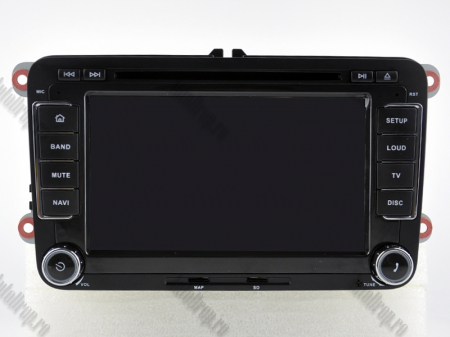 Navigatie Volkswagen, Skoda, Seat, Android 10, Quadcore|PX30| / 2GBRAM + 16GB ROM cu DVD, 7 Inch - AD-BGWVW7P317