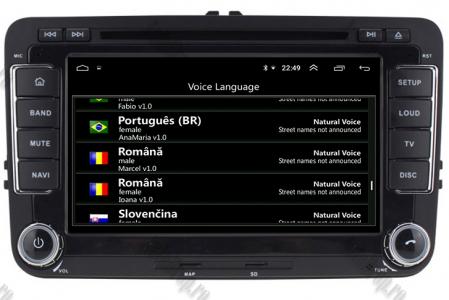 Navigatie Volkswagen, Skoda, Seat, Android 10, Quadcore|PX30| / 2GBRAM + 16GB ROM cu DVD, 7 Inch - AD-BGWVW7P316