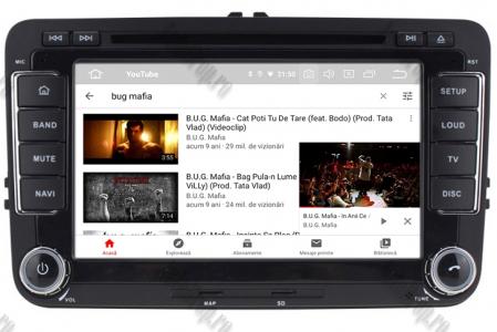 Navigatie Volkswagen, Skoda, Seat, Android 10, Quadcore|PX30| / 2GBRAM + 16GB ROM cu DVD, 7 Inch - AD-BGWVW7P314