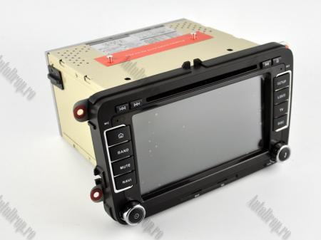 Navigatie Volkswagen, Skoda, Seat, Android 10, Quadcore|PX30| / 2GBRAM + 16GB ROM cu DVD, 7 Inch - AD-BGWVW7P319