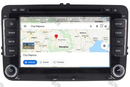Navigatie Volkswagen, Skoda, Seat, Android 10, Quadcore|PX30| / 2GBRAM + 16GB ROM cu DVD, 7 Inch - AD-BGWVW7P312