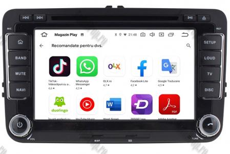 Navigatie Volkswagen, Skoda, Seat, Android 10, Quadcore|PX30| / 2GBRAM + 16GB ROM cu DVD, 7 Inch - AD-BGWVW7P310
