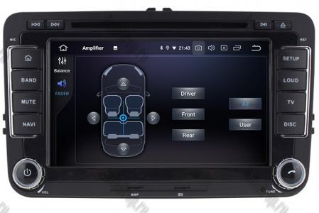 Navigatie Volkswagen, Skoda, Seat, Android 10, Quadcore|PX30| / 2GBRAM + 16GB ROM cu DVD, 7 Inch - AD-BGWVW7P37