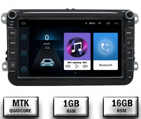 Navigatie Volkswagen, Skoda, Seat, QUADCORE|MTK| / 1GB RAM + 16GB ROM, 8 Inch - AD-BGPVW8MTK0