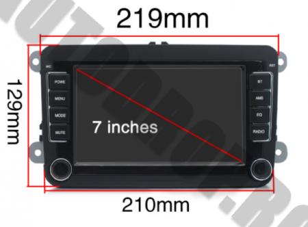 Navigatie Volkswagen, Skoda, Seat, QUADCORE|MTK| / 1GB RAM + 16GB ROM, 7 Inch - AD-BGPVW7MTK17
