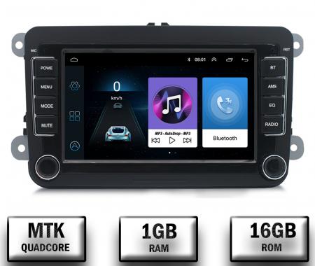 Navigatie Volkswagen, Skoda, Seat, QUADCORE|MTK| / 1GB RAM + 16GB ROM, 7 Inch - AD-BGPVW7MTK0