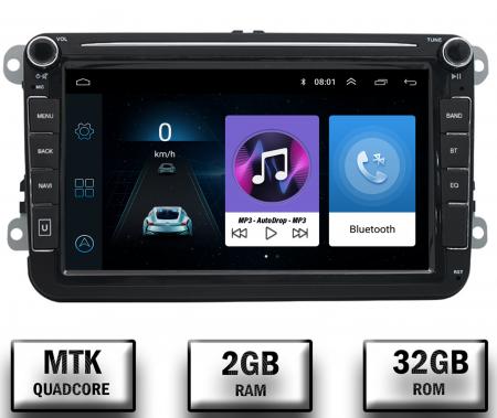 Navigatie Volkswagen, Skoda, Seat, QUADCORE|MTK| / 2GB RAM + 32GB ROM, 8 Inch - AD-BGPVW8MTK2GB0